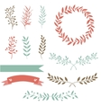 Hand drawn set design elements brunch wreath vector image vector image