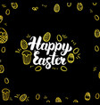 happy easter gold black postcard vector image