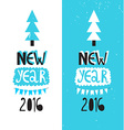 Happy new year 2016 or christmas typography Poster vector image vector image