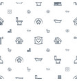 house icons pattern seamless white background vector image vector image