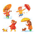 i love autumn walk on outdoors vector image vector image