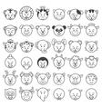 icon animal faces vector image vector image