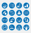 icon set obesity and health concept blue vector image