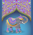 indian elephant decorated for a wedding vector image vector image