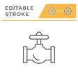 Industrial valve line icon