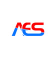 initial letter aes logo template design vector image