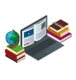 IT Communication or e-learning or internet network vector image vector image