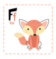 letter f funny alphabet for young children vector image