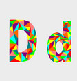 letter klow poly alphabetgeometric style vector image vector image