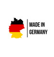 made in germany icon with german flag map vector image vector image