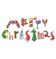 Merry Christmas hand drawing lettering vector image vector image