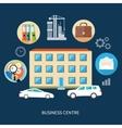 Modern business center vector image