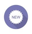 new purple sticker flat design long shadow icon vector image