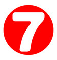 number 7 sign design template element vector image vector image