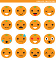 Orange emoticons vector image vector image