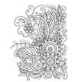 oriental floral design vector image vector image
