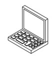 pc laptop 3d vector image vector image