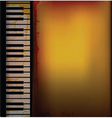piano music retro background vector image