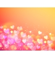Pink bokeh effect shining background vector image vector image