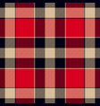 plaid in vintage colors tartan seamless pattern vector image vector image