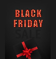 retro style black friday sale card vector image