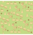 Seamless pattern of toys1 vector image vector image