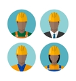 Set of builders avatars vector image vector image