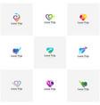 set of love travel logo travel logo design vector image vector image