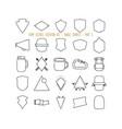 set outline badge shapes vector image