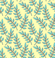 Sketch laurel branch vector image