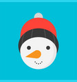 snowman icon in flat design for use as material vector image vector image