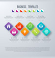 Square infographics with icons vector image