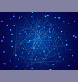 starry sky map random schematic bright stars vector image