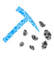 stone mining hammer collage of triangles vector image