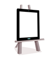 Tablet on the wooden easel vector image