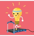 testing ideas light bulb having exercise in vector image vector image