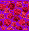 trend roses pattern vector image