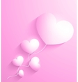 Valentines day Abstract paper 3d hearts card vector image vector image