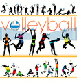 volleyball players set vector image vector image