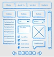 Website design sketch style kit vector image