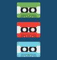 Flat Design Cassette Tape vector image