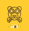 line style bear vector image