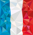 Stylized flag of France Low poly style vector image