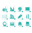 stylized school and education icons vector image