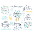 Summer Lettering Design Set - hand drawn vector image