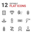 12 quality icons vector image vector image