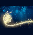 abstract golden christmas bauble in night vector image vector image