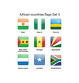 African countries flags set 5 vector image vector image
