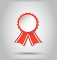 award ribbon icon medal badge on white background vector image