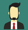 bearded businessman suit people background color vector image